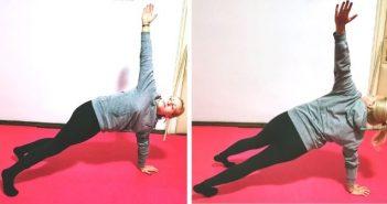 Visoki plank s lateralnim podizanjem ruku