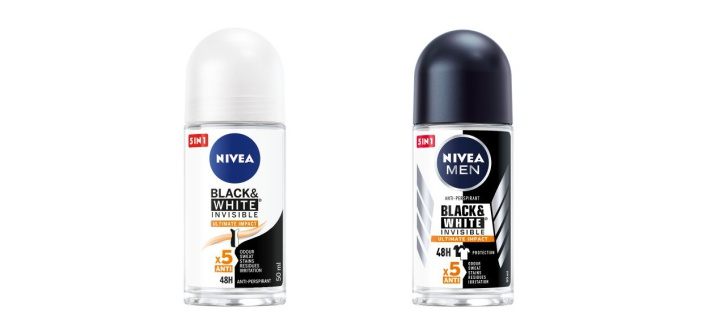 NIVEA BLACK & WHITE INVISIBLE Ultimate Impact roll-on