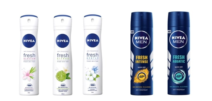 NIVEA Fresh antiperspiranti