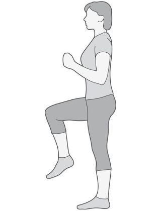 Fleksija kuka (jacanje misica fleksora kuka)
