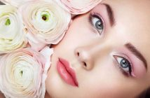 5 savjeta profesionalne vizazistice, nasminkana lijepa djevojka s ruzama uz lice
