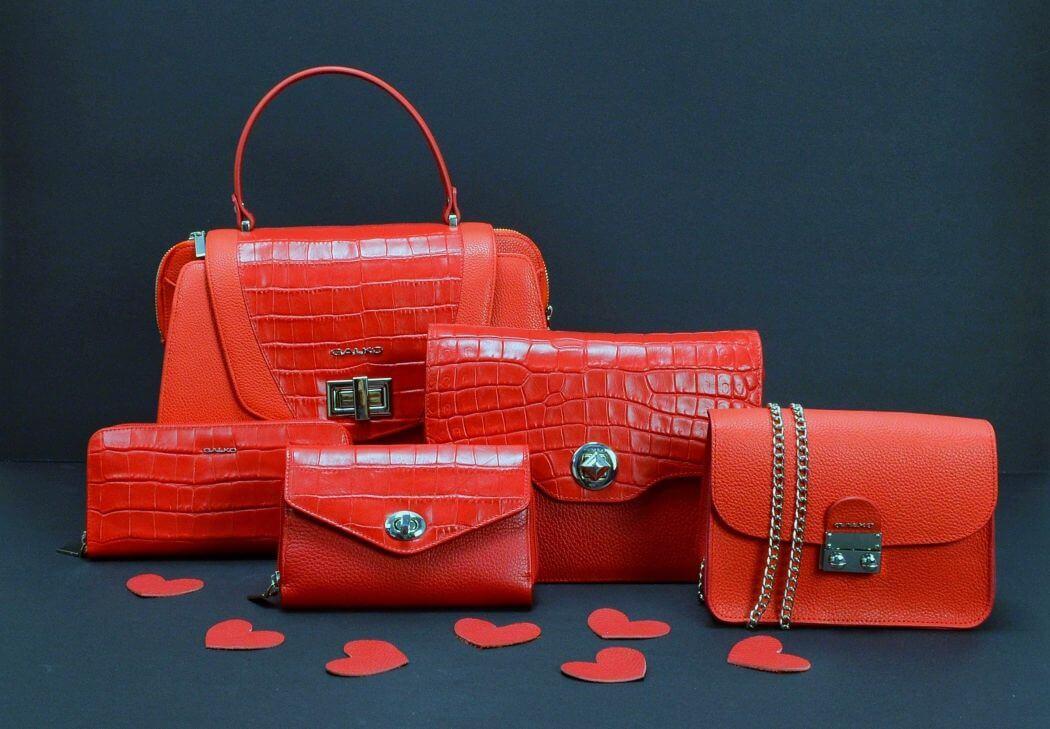 Crvene Galko torbe i novcanici