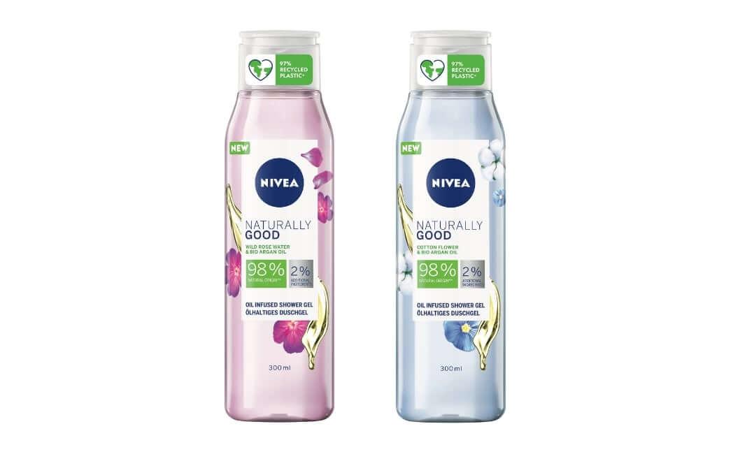 NIVEA Naturally Good gelovi za tusiranje