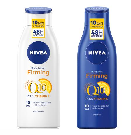 NIVEA Q10 losion za ucvrscivanje koze tijela i NIVEA Q10 mlijeko za ucvrscivanje koze tijela
