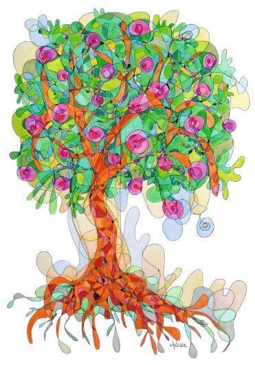 fraktalni crtez drvo obilja