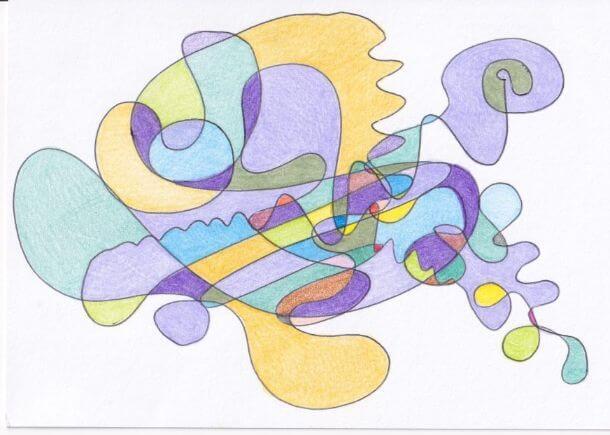 fraktalni crtez u veselim bojama