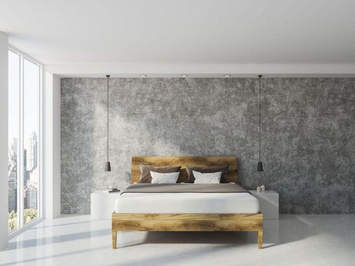 Dekorativno bojenje zidova u spavacoj sobi